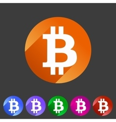 Bitcoin icon web sign symbol logo label vector