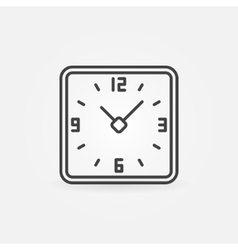 Clock in rounded squares icon vector