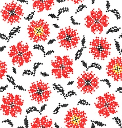Abstract texture of flowers vector image vector image