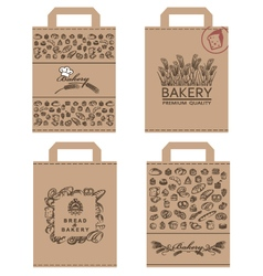 Bakery packages set vector