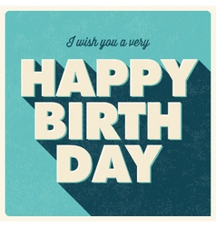 birthday card retro design blue vector image