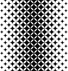 Black and white curved star pattern vector image vector image