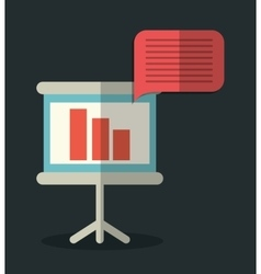 Board and bubble icon office instrument design vector
