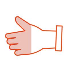Businessman hand like symbol vector