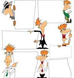 Cartoon note holder vector