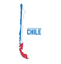 flag and map of chile vector image vector image