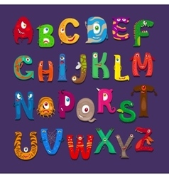 Funny alphabet for kids vector image vector image