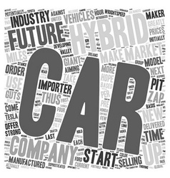 Future hybrid vehicles 1 text background wordcloud vector