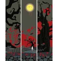 Halloween Banner Set Vertical vector image vector image