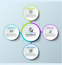 infographic design layout circular diagram with 4 vector image