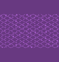 isometric seamless pattern net lines background vector image vector image