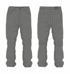 mens black jeans vector image vector image