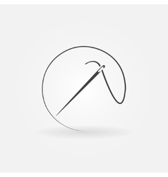 Needle icon or logo vector