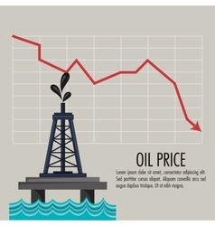 Oil price and industry design vector