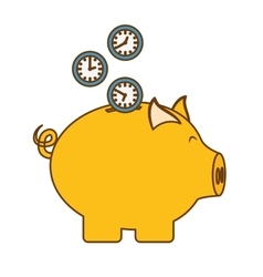 piggy bank money icon image vector image