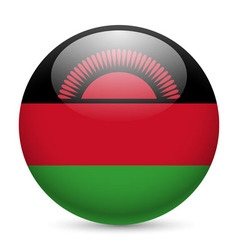 Round glossy icon of malawi vector