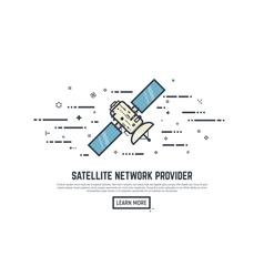 Satelitte line concept vector