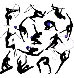 Sport - silhouttes vector image