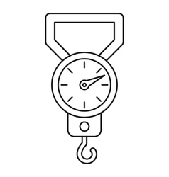 Steelyard icon outline style vector image