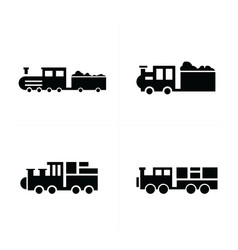 Train logistics and transport icons vector