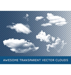 Transparent Clouds Set Collection can be used with vector image vector image