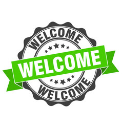 Welcome stamp sign seal vector