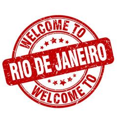 Welcome to rio de janeiro vector