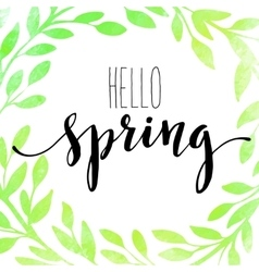 Words Spring with wreath vector image vector image
