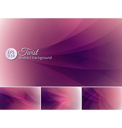 Twist abstract background a set of background vector