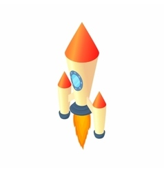 Two stage rocket icon cartoon style vector