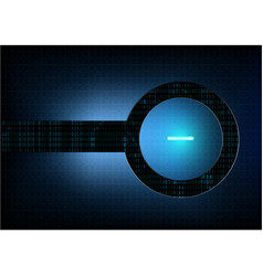 Abstract technological modern button background vector