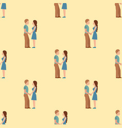 People happy love couple seamless pattern vector