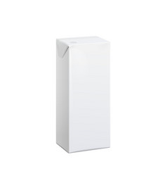 Realistic white carton pack 100 ml vector