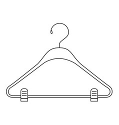 Monochrome silhouette of clothes hanger vector
