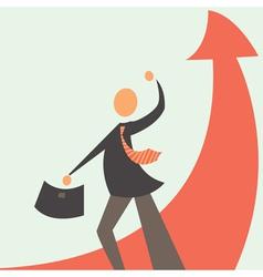 successful development in business vector image