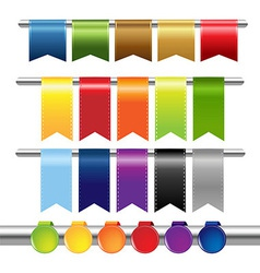 Color web ribbons vector