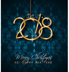 2018 happy new year background for seasonal vector