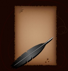 Old paper and antique pen vector