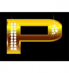 letter p vector image