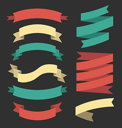 Set of ribbons and design elements vector