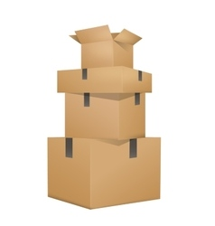 Brown boxes packaging vector image