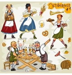 Oktoberfest - hand drawn collection - part 1 vector