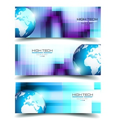 Banner backgrounds for business card or corporate vector