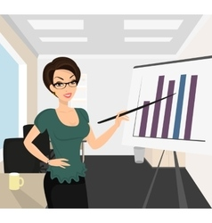 Female business coach vector