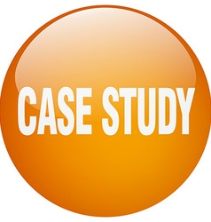 Case study orange round gel isolated push button vector