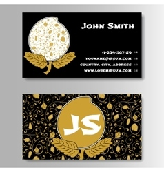 Creative golden business visiting card with vector