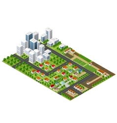 Isometric perspective city vector
