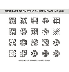 Abstract geometric shape monoline 86 vector