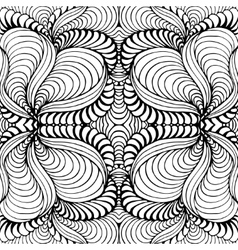 Abstract seamless background with doodle style vector