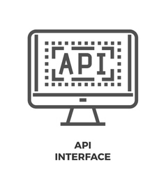 API Interface Line Icon vector image vector image